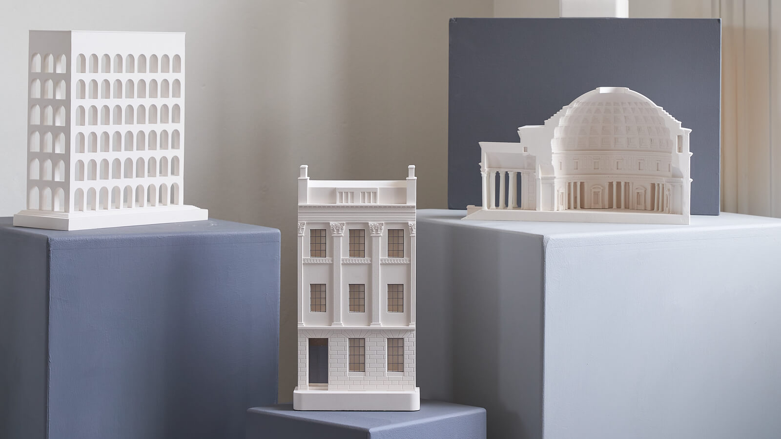 3 Architectural Icons in Elegant Miniature