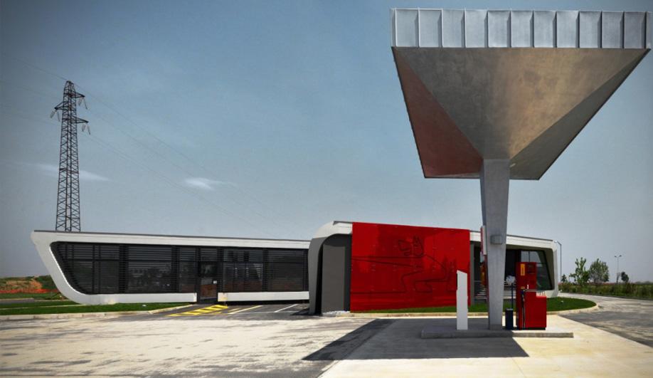 Damilano Studio Architects' gas station 02