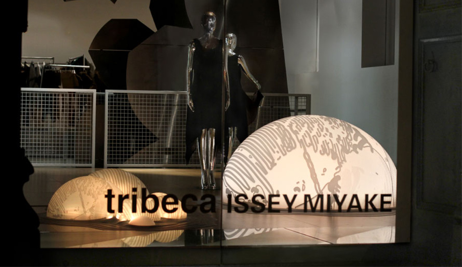 All lit up at Tribecas Issey Miyake HQ 04