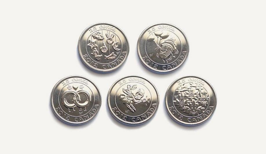 Gary Taxali's coins for The Royal Canadian Mint