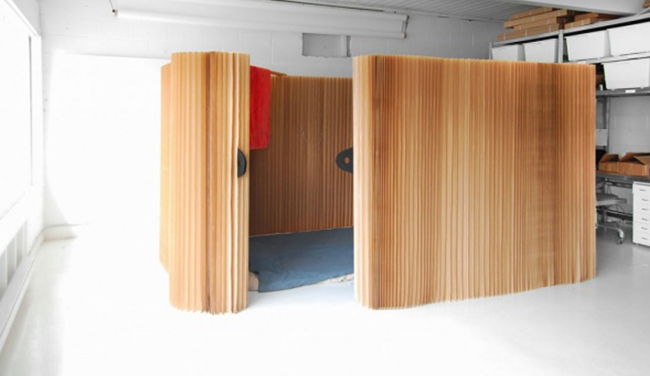 Molo's Softshelter creates privacy in relief shelters