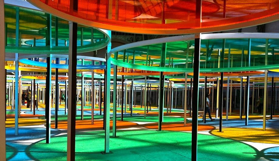 The Grand Palais colourful canopy 01