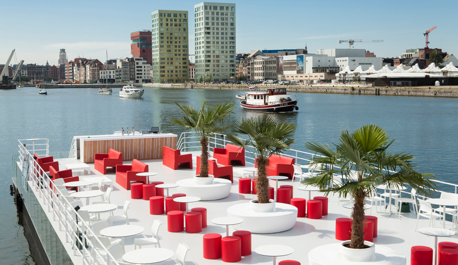 Worlds largest floating pool opens in Antwerp 03