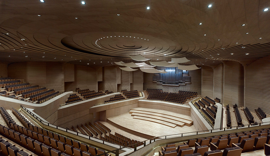 A seashell-shaped theatre in Tianjin China 04