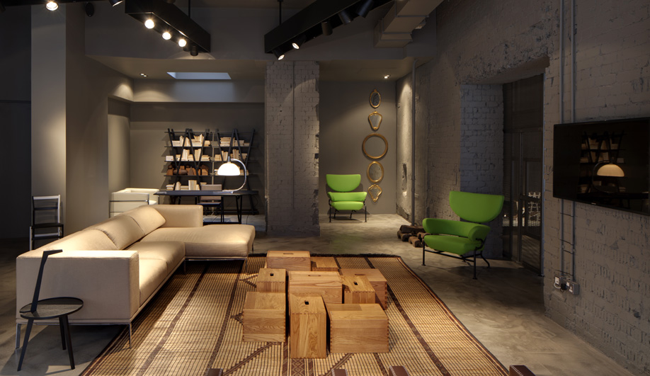 Cassina's First London Showroom, Designed By Piero Lissoni