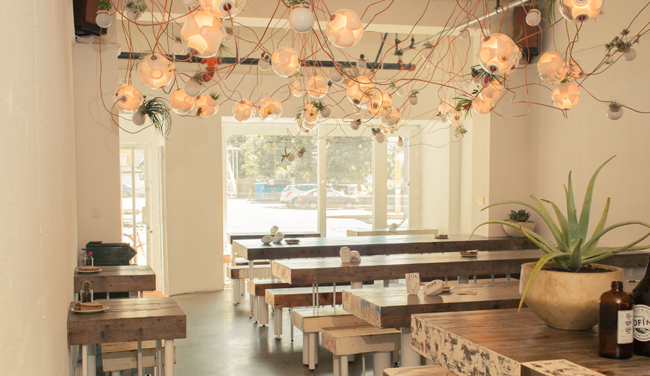 Omer Arbel's industrial-chic restaurant for Tacofino