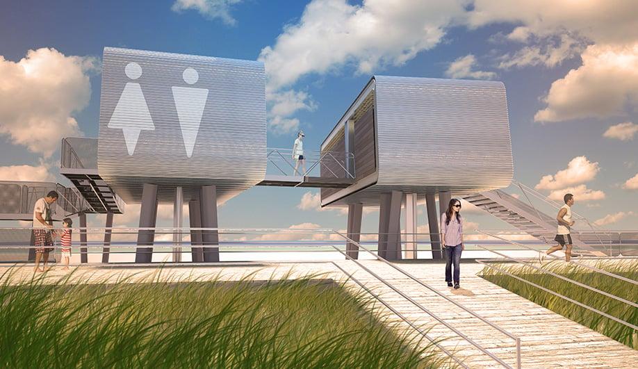 Mod Pods Land On New York's Beaches