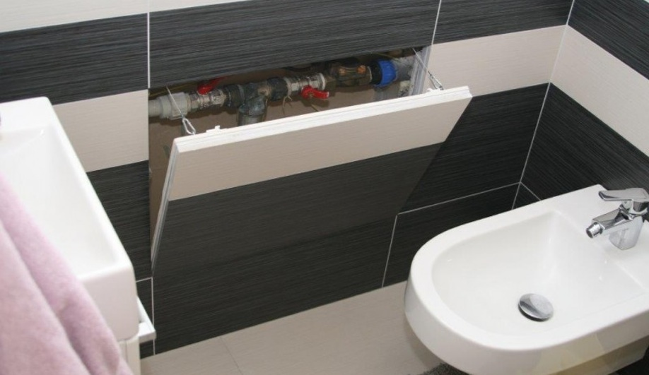 tiled access panels bathroom 6 smart building products at designtrends azure magazine 20905
