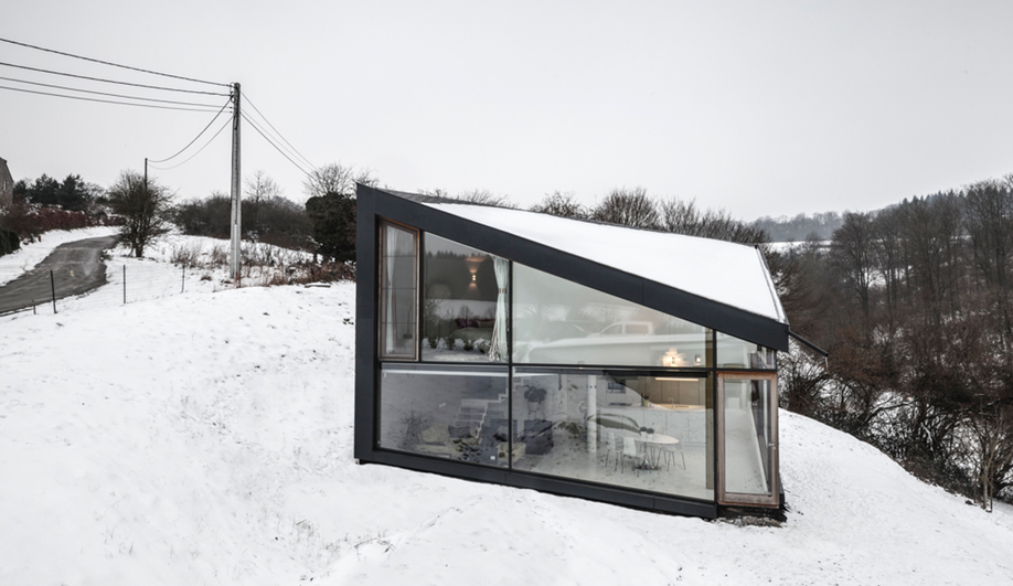 A Wintry Chalet in Belgium