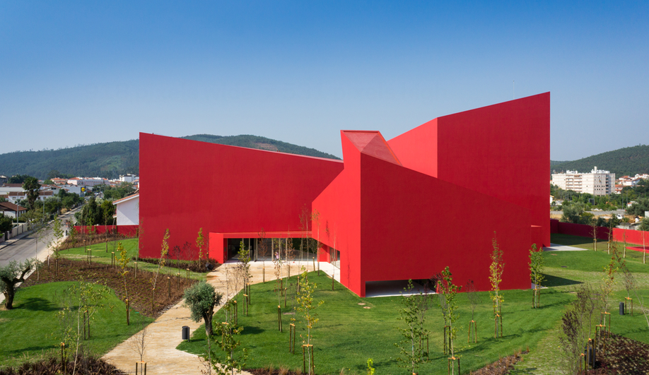 Portugal's Bright-Red House of the Arts