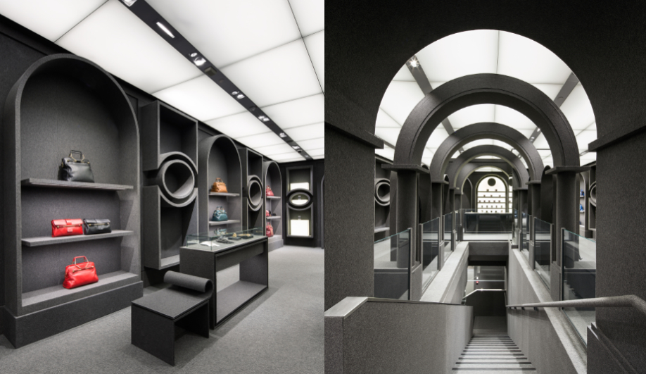 Viktor & Rolf's Felt-Covered Shop in Paris