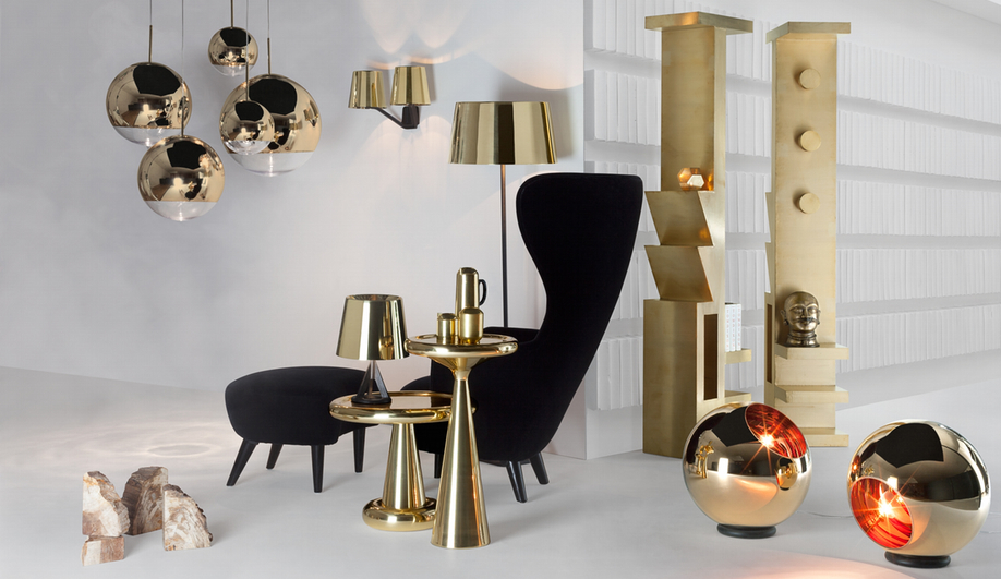 Tom Dixon's CLUB collection, featuring furniture, lighting and accessories