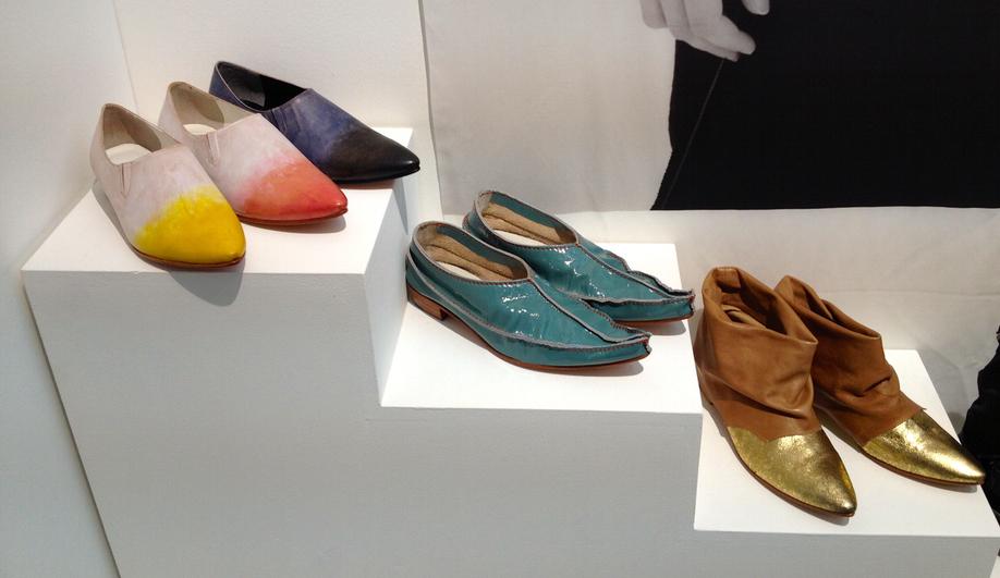 Shoes by the Tokyo fashion brand Matohu, founded by Hiroyuki Horihata and Makiko Sekiguchi in 2005