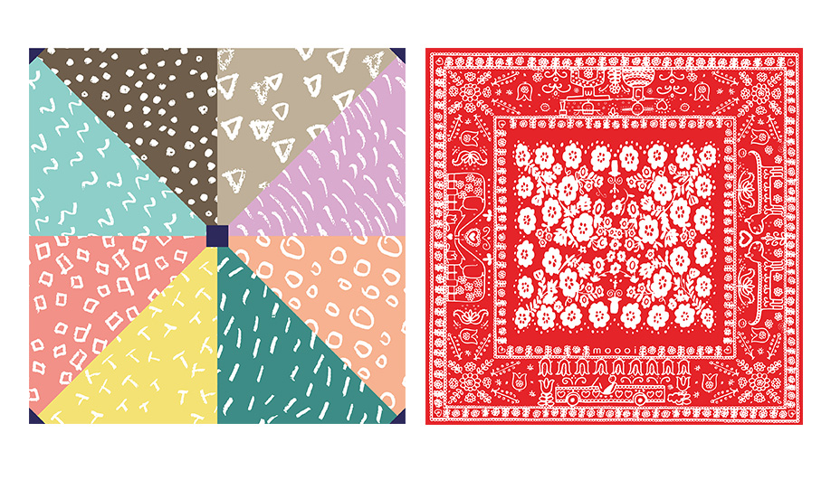 Left, by Kita Furoshiki; Right, by Marcel Wanders