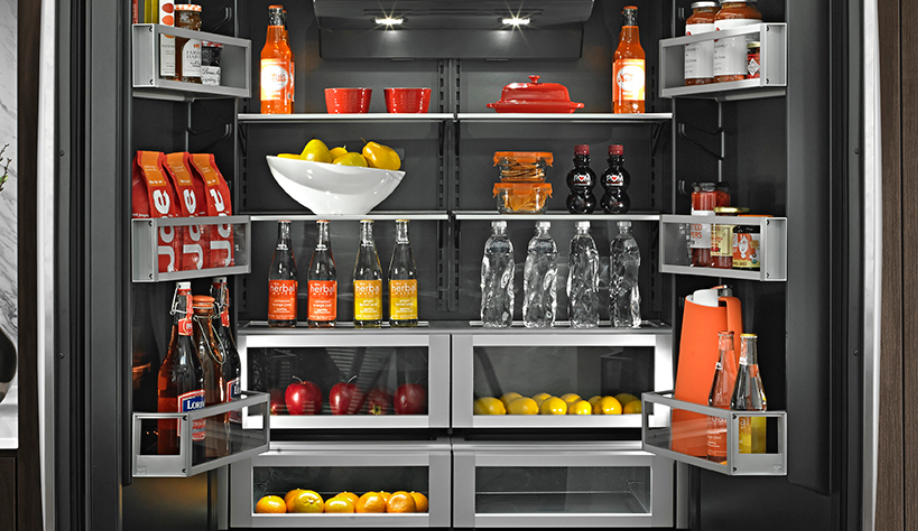 Black is the new black in kitchens azure magazine for Obsidian interior refrigerator