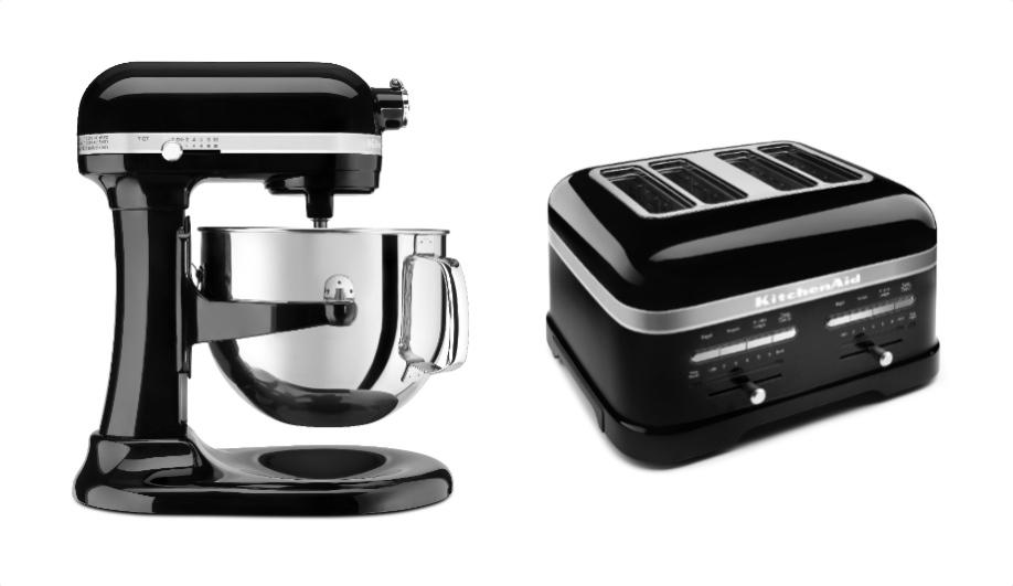 Azure Kitchenaid kitchen black trend