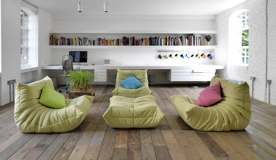 Converting a London Loft Into a Bright Live/Work Space
