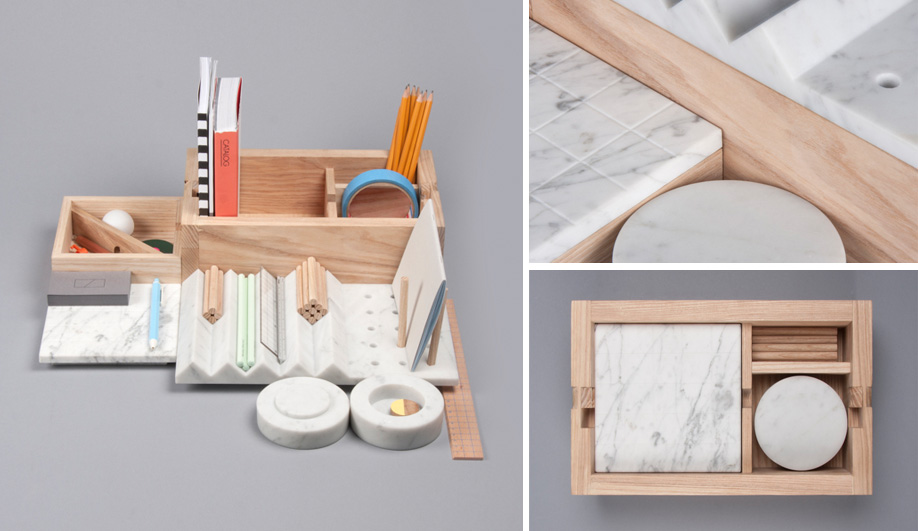 supplies desk holder from upscale item box modern pcs black leather kingfom set in storage school sets stationery pu pen office
