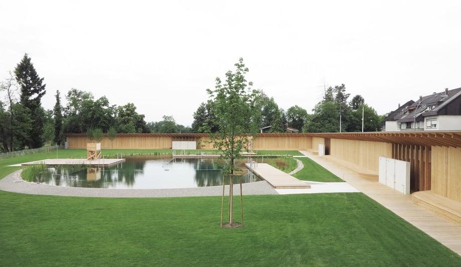 Herzog & de Meuron's Chemical-Free Pool in Switzerland