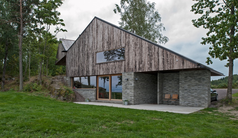 Schjelderup trondahl architects 39 cliff top house in norway - Norwegian wood houses ...