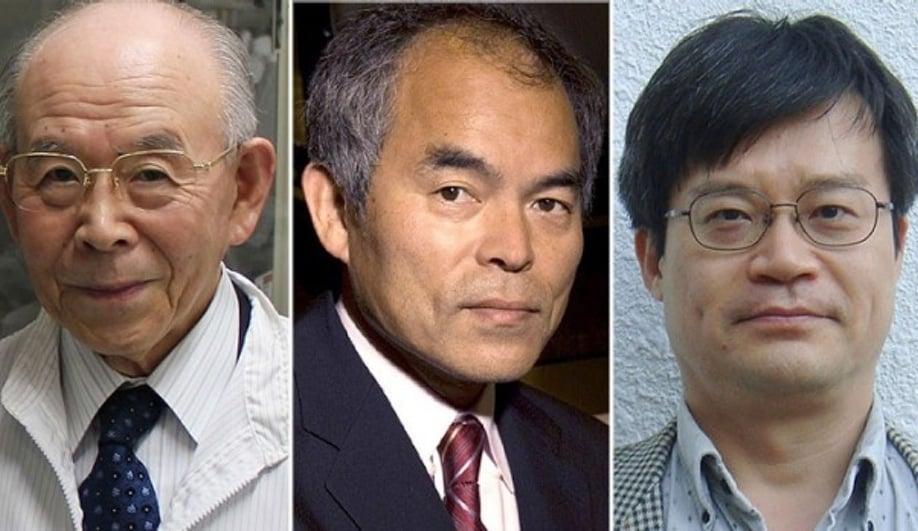Nobel winners Isamu Akasaki, Shuji Nakamura and Hiroshi Amano.