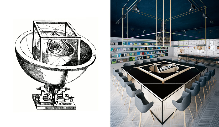 A Kepler-Inspired Science Cafe Concept Plays With Geometry