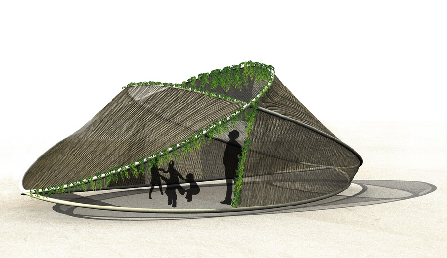 Halo Sukkah, by Alice Vuap and Andrew Nicolas of Cyprus.