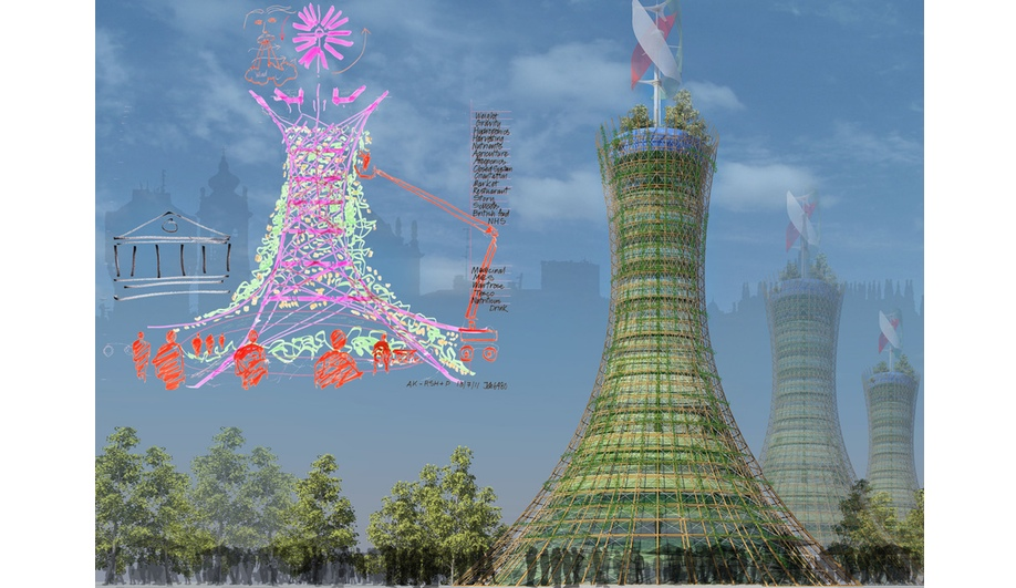 Skyfarm, by Rogers Stirk Harbour + Partners, and Arup Associates, took home the Future Project award in the experimental sub-category.