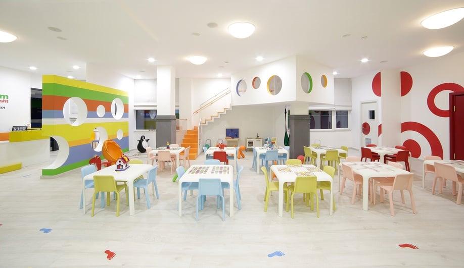 A Playful Kindergarten Interior In Albania