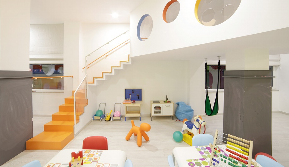 A Playful Kindergarten Interior In Albania