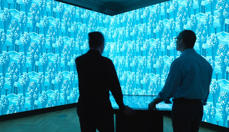 The new Immersion Room at the reopened Cooper Hewitt.