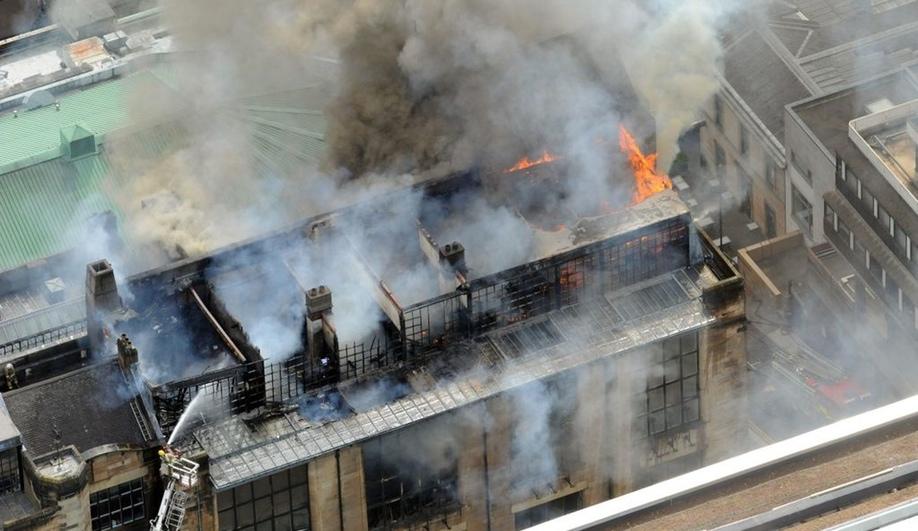 Azure Glasgow fire
