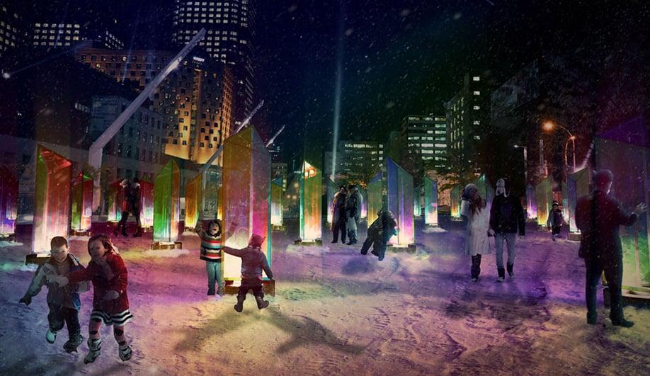 Toronto's RAW Design Lights Up Montreal