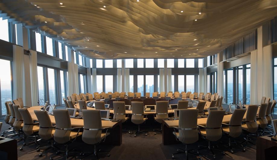 Coop himmelb l au 39 s european central bank building azure for Interior design jobs in europe