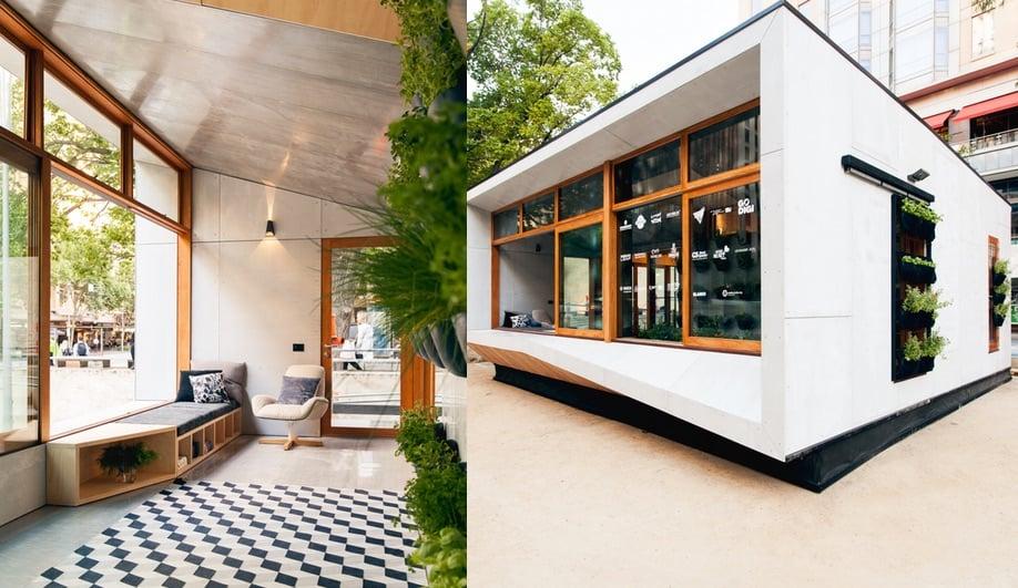 A carbon positive prefab home lands in melbourne azure for Prefab homes melbourne