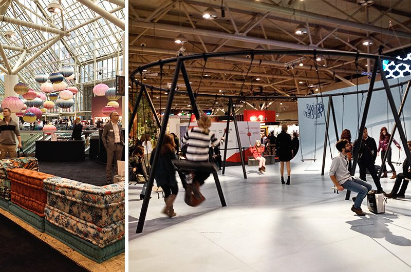 Roche Bobois and Caesarstone Swings at IDS