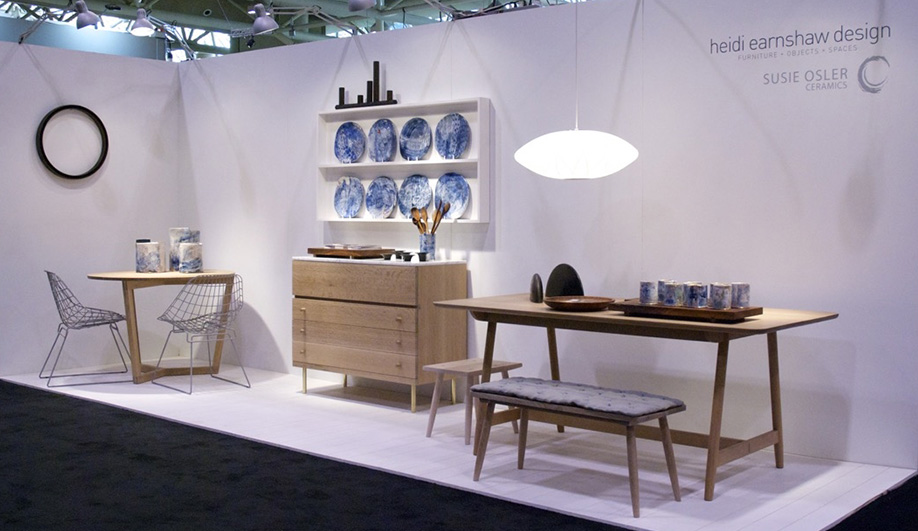Toronto Furniture Maker Heidi Earnshaw Exhibited Her Latest Table And Chair  Sets At IDS, Along With Ceramic Tableware By Susie Osler.