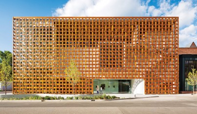 A Closer Look: High-Tech Wood Facade by Shigeru Ban