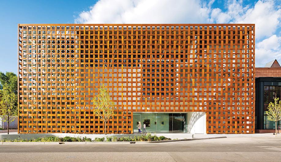 A Closer Look: High-Tech Wood Facade by Shigeru Ban