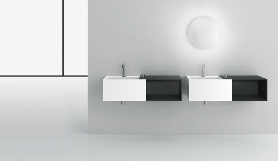 Azure Bathroom Boffi sinks