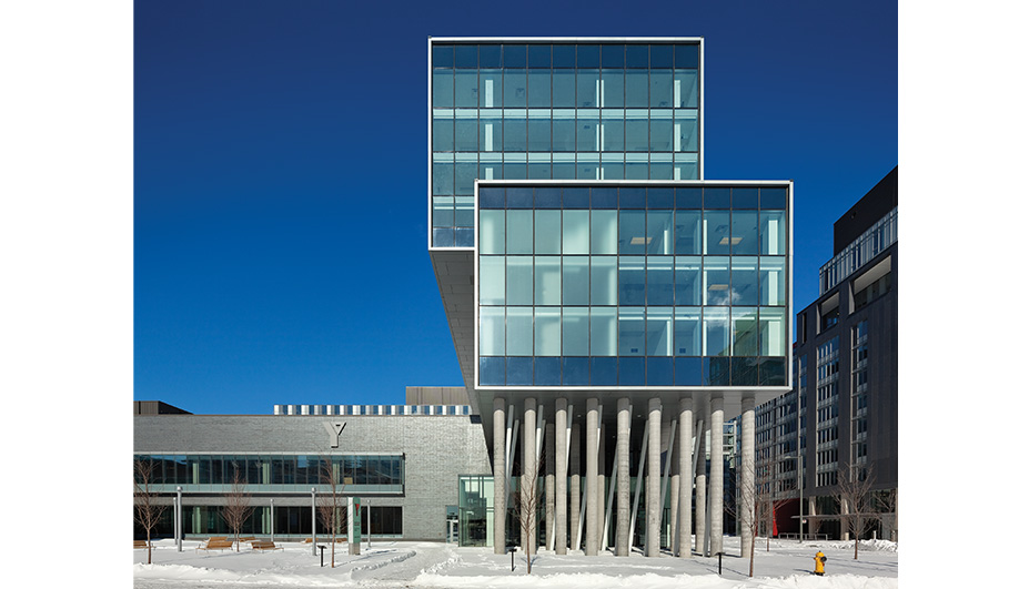 The George Brown College residence, by architects­Alliance, will house 500 students after the games.