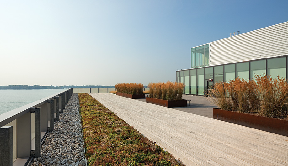 A view of Lake Ontario from the rooftop of the George Brown College Waterfront Campus. The school is about a 20-minute walk from the new residence.
