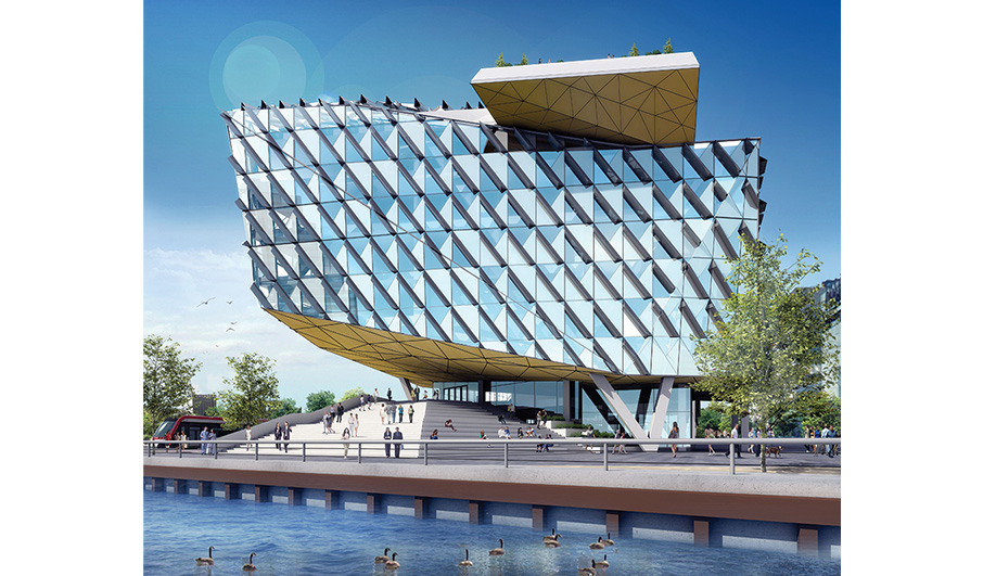 The city hopes to attract tenants from the high-tech sector with ultra-high-speed bandwidth capabilities at the Waterfront Innovation Centre, one of the more eye-catching office complex proposals, designed by Sweeny &Co of Toronto.