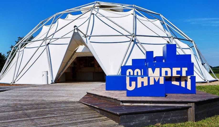 Camper's Pop-Up Shop in Vitra's Geodesic Dome
