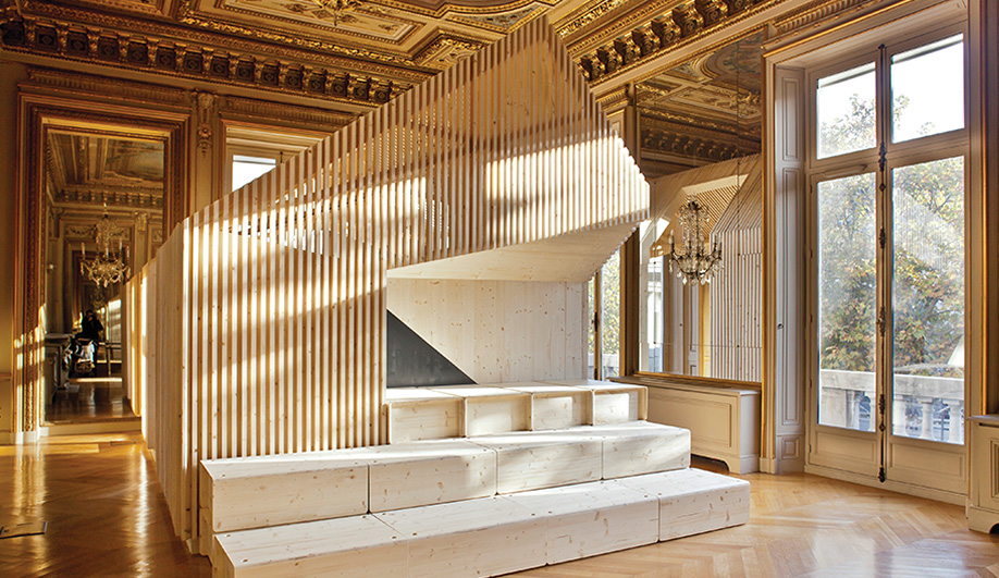 A Modern Office in a Parisian Palace