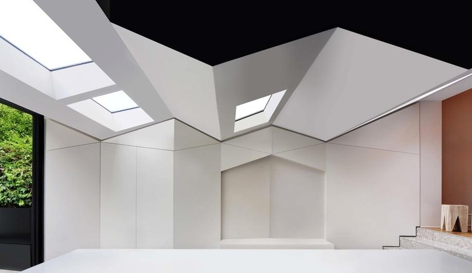 how a folded roof transforms a home interior azure magazine. Black Bedroom Furniture Sets. Home Design Ideas