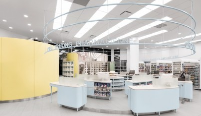 A Friendly Interior for a Montreal Pharmacy