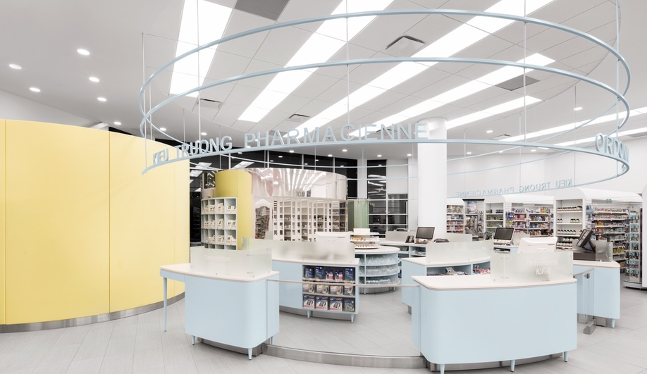 A Friendly Interior for a Montreal Pharmacy Azure Magazine