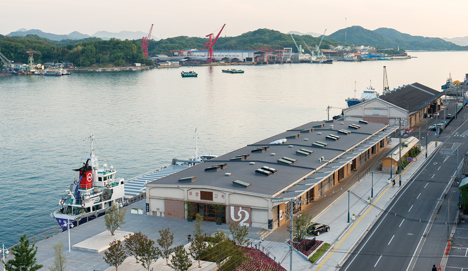The hotel overlooks Onomichi's central waterway, a channel off Japan's vast Inland Sea.