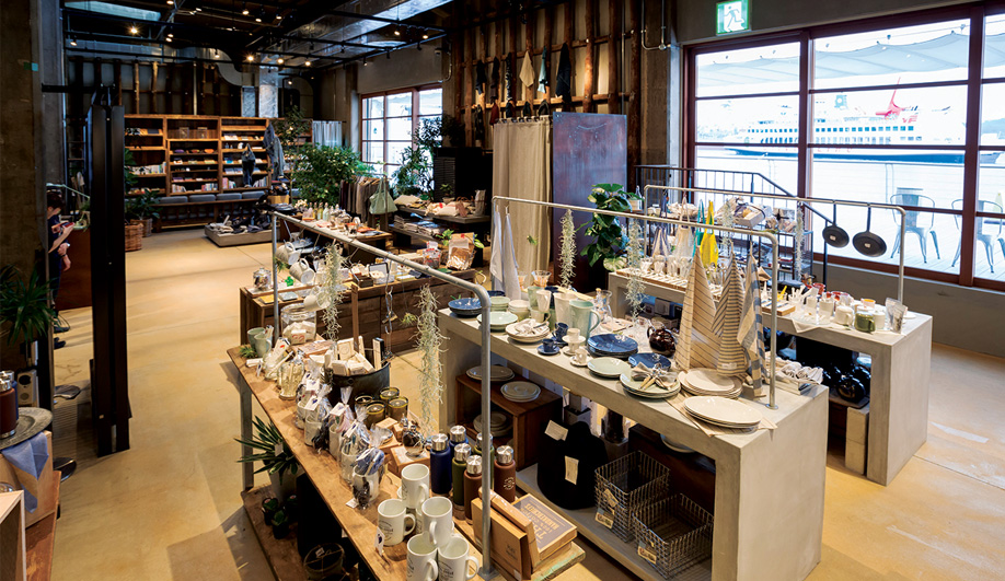 The U2 Shima Shop is a source for local goods, such as housewares, stationery and textiles.
